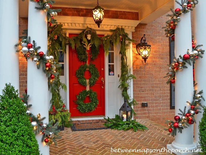 Porch Decorated with Pottery Barn Inspired Garland 2a_wm