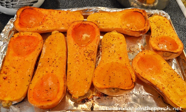 Roasted Butternut Squash for Soup