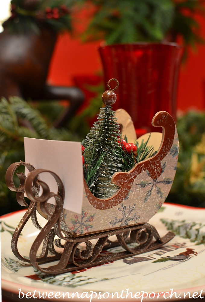 Sleigh Place Card Holders