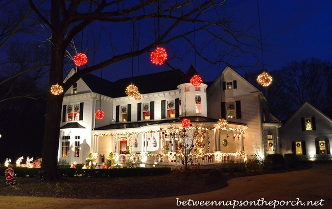 Victorian Home Decorated at Christmastime