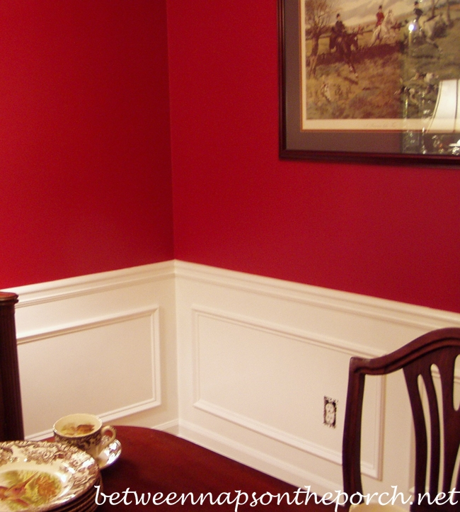 Add Picture Molding Wainscoting Under Chair Rail In Dining Room
