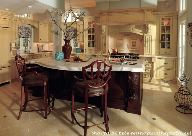 Beautiful Kitchen with Dark Wood Island