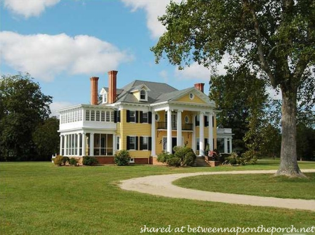 Beautiful Oak Hall, Greek Revival Manor Home
