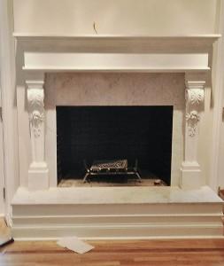 Brick Fireplace Makover Redesign