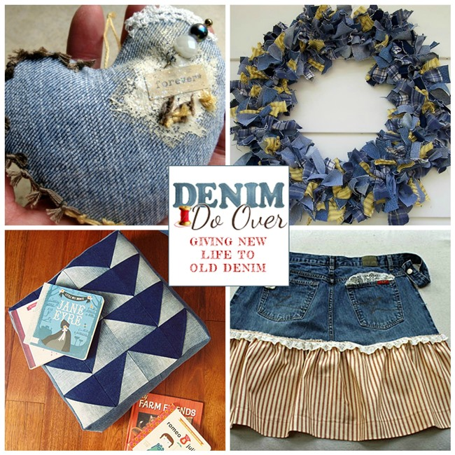 10 denim project made from jeans including one for for Denim craft projects