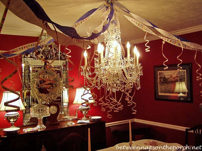 Dining Room Decorated for Birthday Party