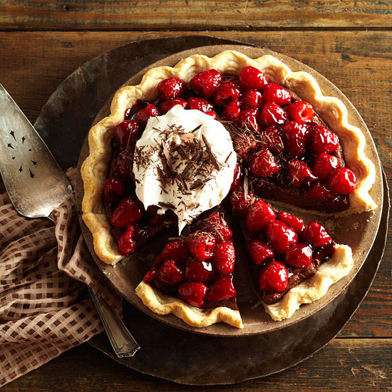 Double Chocolate Mascarpone Raspberry Pie