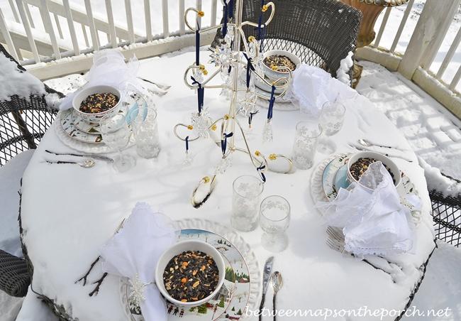Fantasy Table in the Snow with Sakura, Christmas Village, David Carter Brown