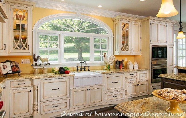 french country kitchen. French Country Kitchen With Yellow Walls And Antiqued Cabinets 10 Beautiful Dream Kitchens  Cottage Traditional