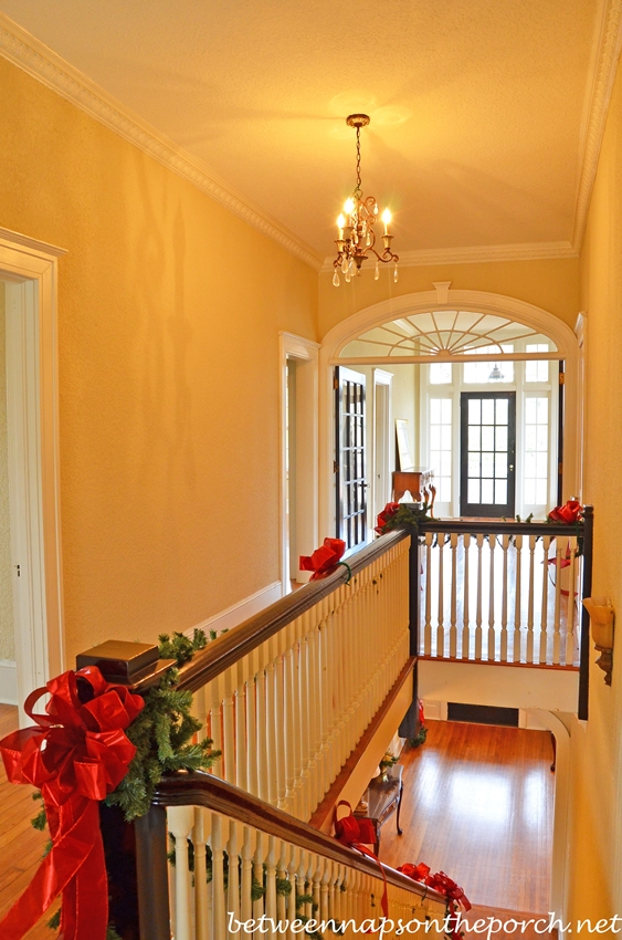 Historic Home Decorated for Christmas