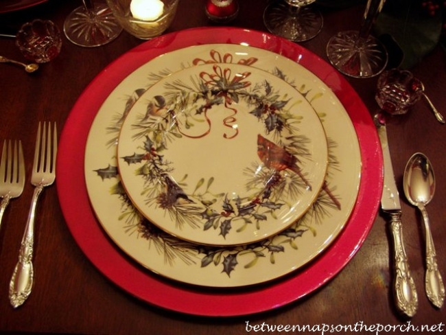 New years table setting tablescape with lenox winter greetings china lenox winter greetings dishware m4hsunfo