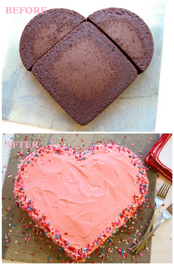 Make a Heart-Shaped Cake for Valentine's Day without a Heart Pan