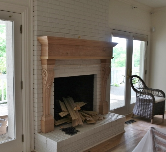 Mantel and Fireplace Makeover