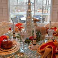 New Year's Day Table Setting with Lenox Winter Greetings