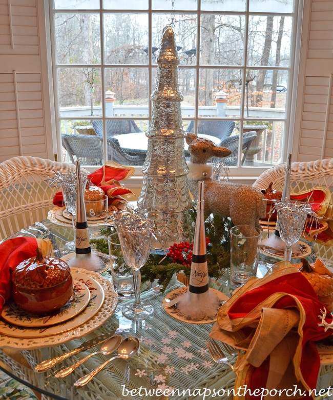 New Year's Day Winter Party Tablescape
