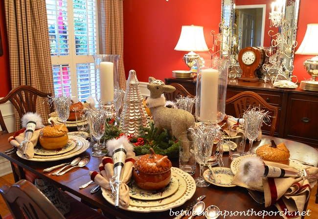 New Year's Table Setting Tablescape
