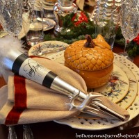 New Year's Dinner Party Tablescape with a Winter Theme