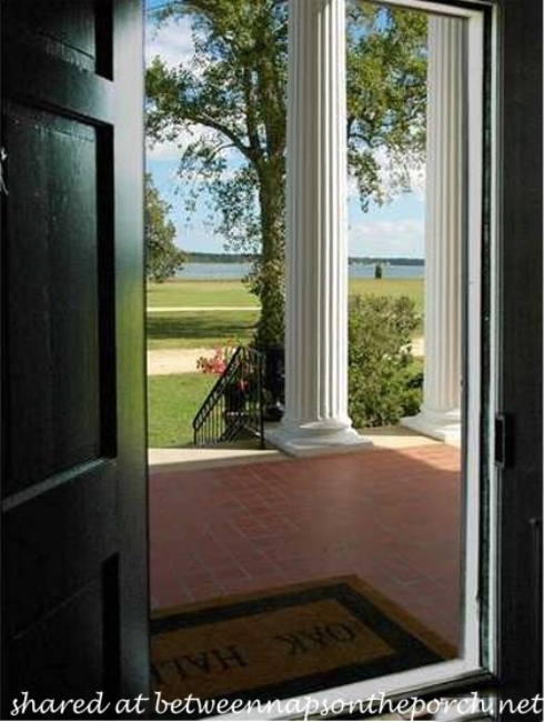 Oak Hall Front Door, Lovely View