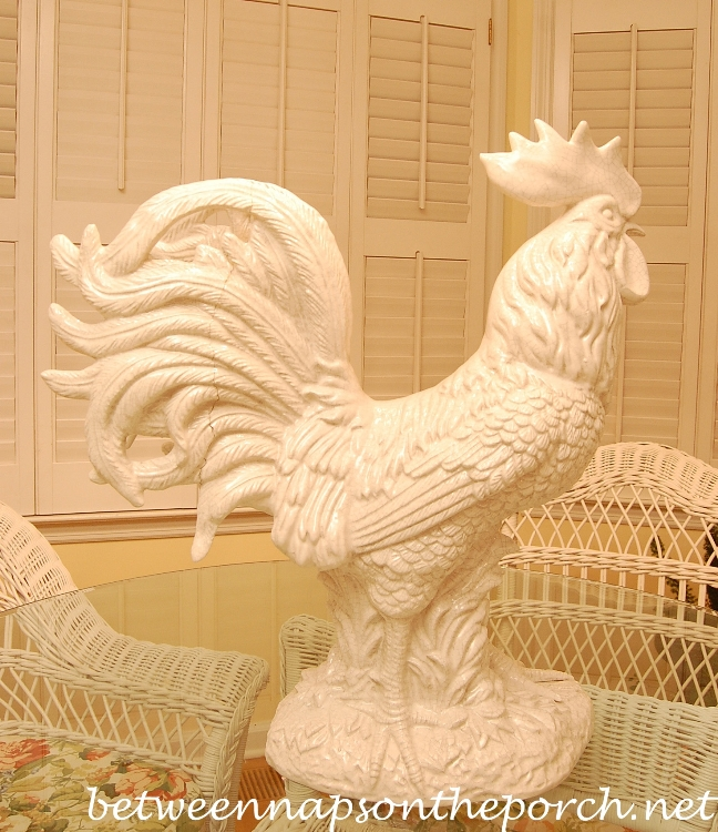 Repaired Ceramic Rooster