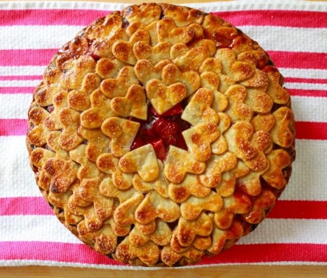 Strawberry Heart Pie