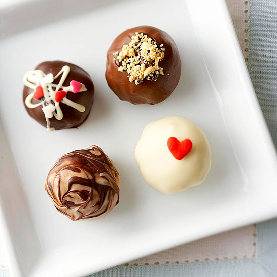 Truffles for Valentine's Day, No-Bake