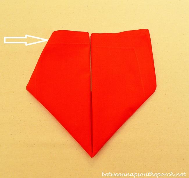 Valentine's Day Heart Napkin Fold Tutorial