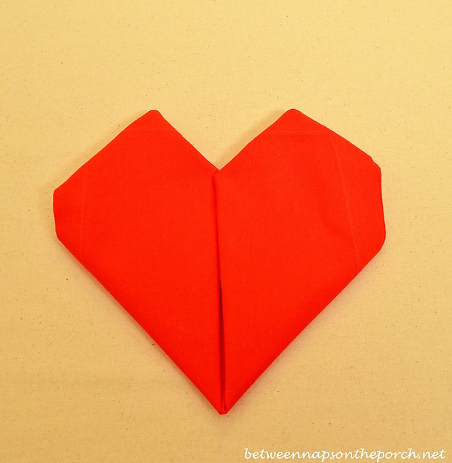 Valentine's Day Heart Napkin Fold Tutorial