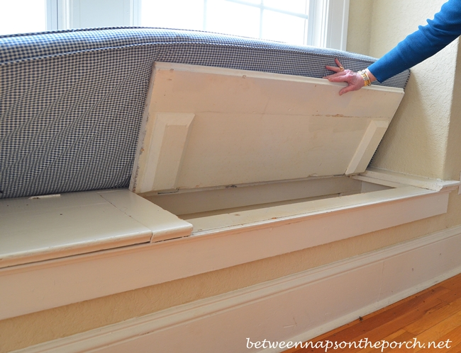 Window Seat Storage in Historic Home