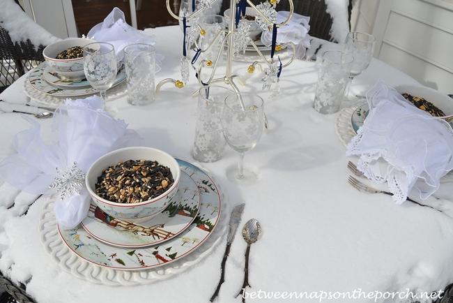Winter Table Setting, Sakura, David Carter Brown, Christmas Valley