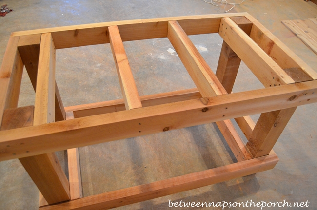 building a potting table or buffet server for parties