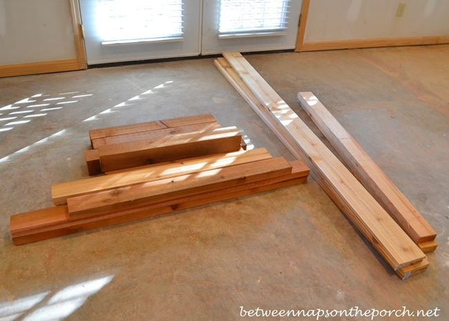 Cedar Wood for Potting Table