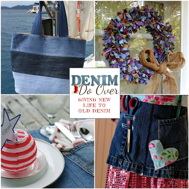 Denim Do Over Projects Made From Recycled Denim Jeans