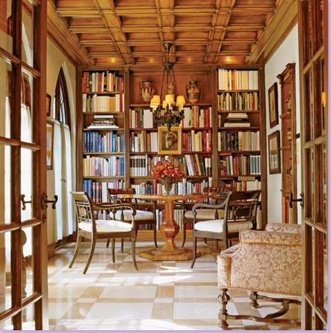 Dining Room Used As A Library 01