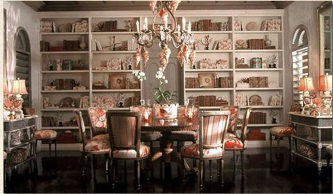 Dining Room Used As A Library 04