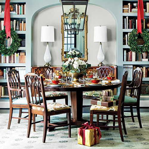 Cozy Home Libraries: Dining In The Library: When Dining Rooms Are Libraries, Too