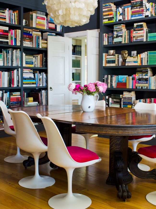 Dining Room Used As A Library 10