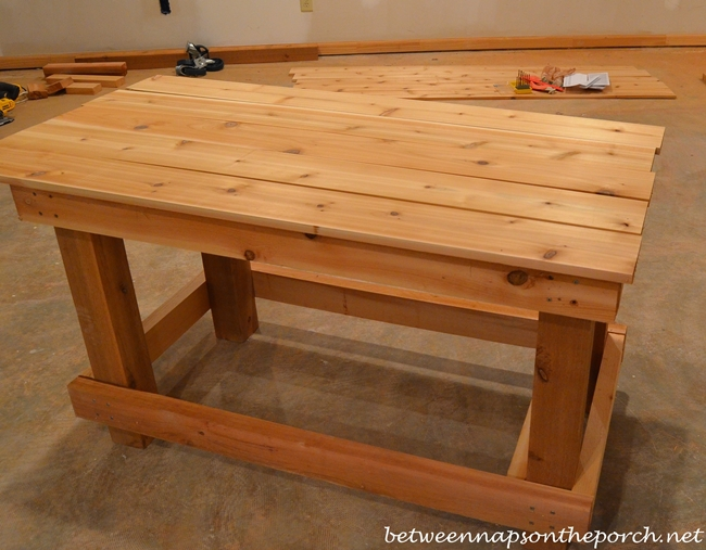 How to Build a Potting Table or Potting Bench