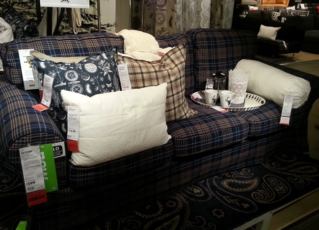 Ikea Plaid Sofa