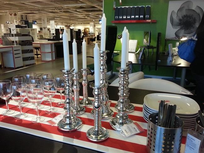 Ikea Silver Candlesticks