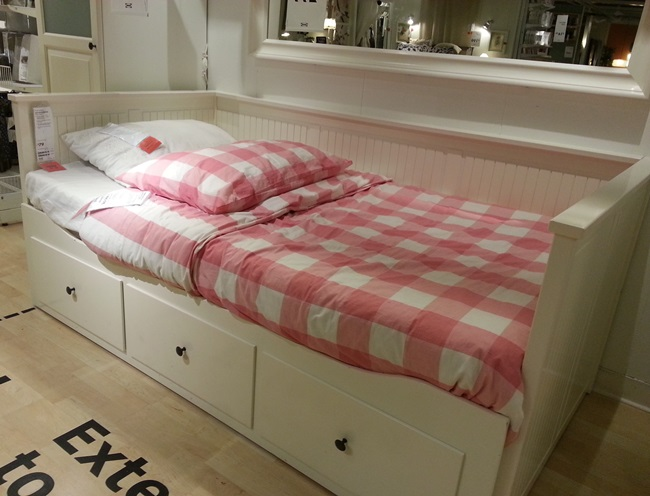 Pink Check Bedding from Ikea