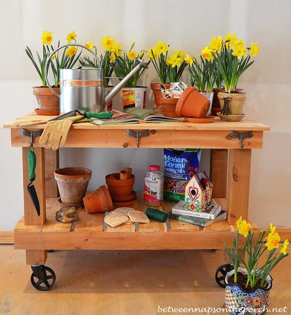 Pottery Barn Abbott Inspired Potting Table & Buffet Server