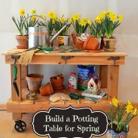 Pottery Barn Abbott Inspired Potting Table & Buffet Server