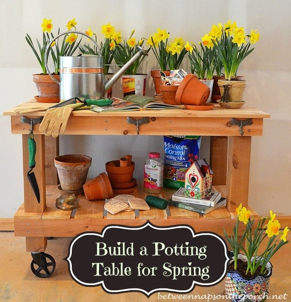 Pottery Barn Abbott Inspired Potting Table & Buffet Server 25