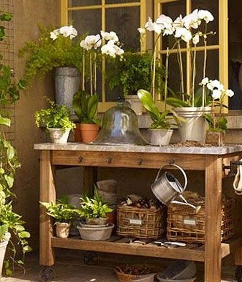 Pottery Barn Abbott Potting Table