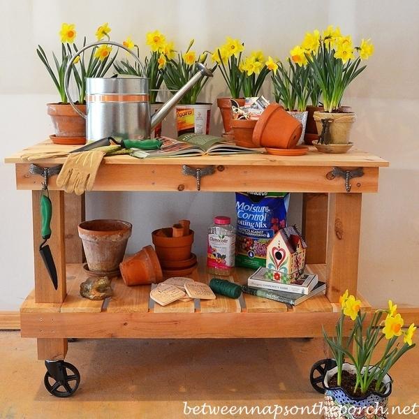 Potting Bench Table Tutorial Wm