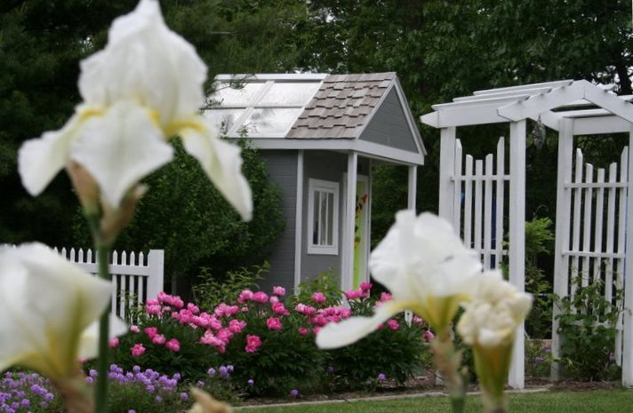 Potting Shed and Beautiful Arbor