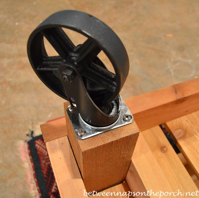 Reproduction Vintage Casters for a Table