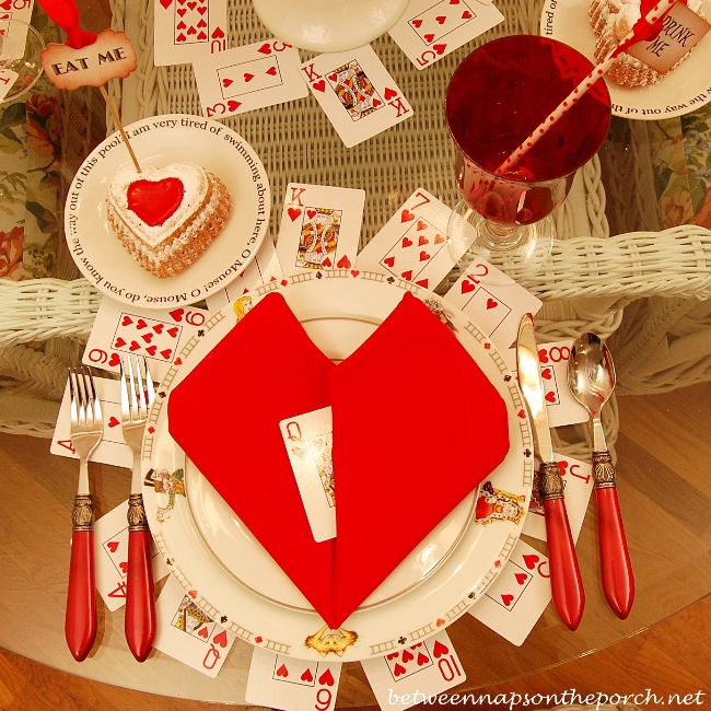 Valentine S Day Table Setting Tablescape With A Heart Theme