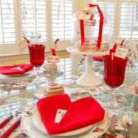 Whimsical Valentine's Day Tablescape, Alice in Wonderland Style