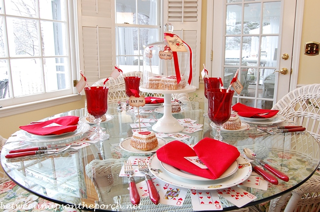 Valentine's Day Table Setting with an Alice in Wonderland Queen of Hearts Theme_wm